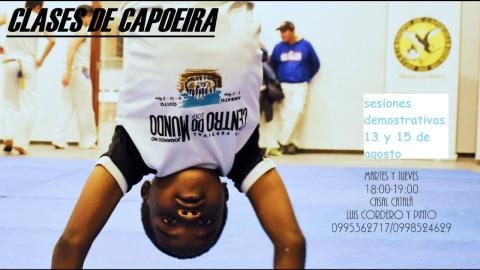Clases demostrativas de capoeira 13 y 15 de agosto