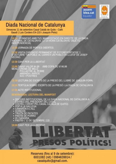 11 de septiembre: jornada de puertas abiertas por el Día Nacional de Cataluña