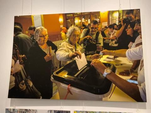 Exposición de fotografía sobre el referéndum del 1 de octubre, de Josep Vecino