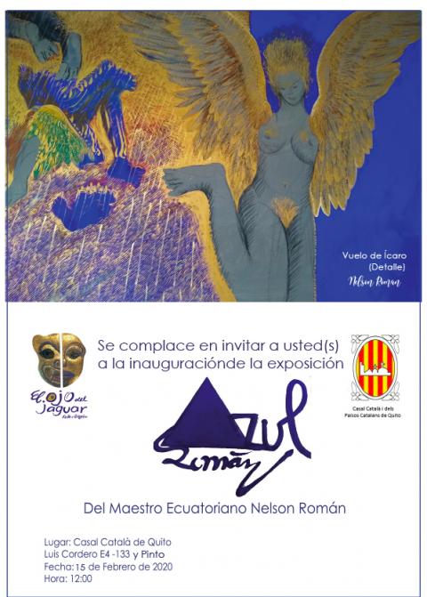 Inauguración de la exposición de Nelson Román