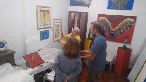 Exposición Azul Román, material de prensa